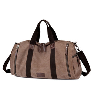 Lugano Quality Canvas Weekender Bag | Canvas Travel Bag | Duffle Bag, Canvas Duffel Weekender Bag - trendyful