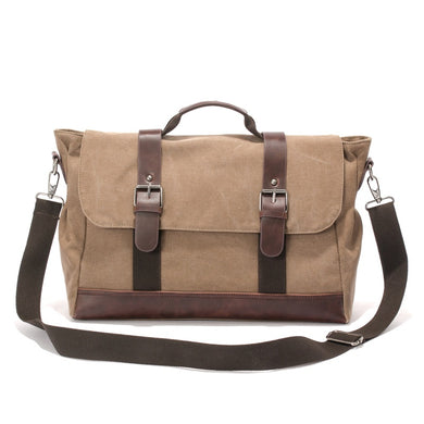 Cheggio Canvas Messenger Bag | Laptop Bag | Satchel Bag 14