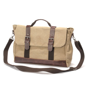 "Canvas Messenger Bag | Laptop Bag | Satchel Bag 14"", Canvas Messenger Bag - trendyful"