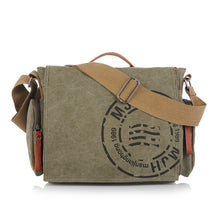 "Load image into Gallery viewer, Sheldon Canvas Messenger Laptop Bag 14"" - trendyful"