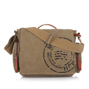 "Canvas Messenger Laptop Bag 14"", Canvas Messenger & Laptop Bag - trendyful"