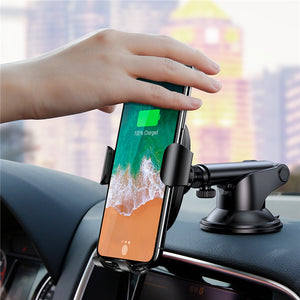 Baseus Premium Wireless Fast Car Charger & Phone Holder,  - trendyful