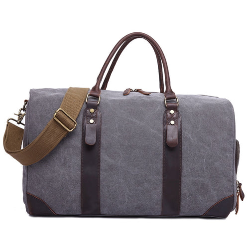 Quality Canvas Travel Bag, Canvas Duffel Weekender Bag - trendyful