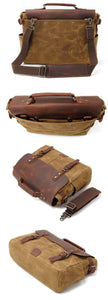 Canvas Messenger Bag | Laptop Bag | Satchel Bag, Canvas Messenger & Laptop Bag - trendyful