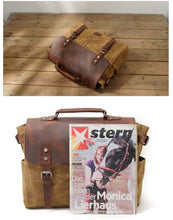 Load image into Gallery viewer, Canvas Messenger Bag | Laptop Bag | Satchel Bag, Canvas Messenger & Laptop Bag - trendyful