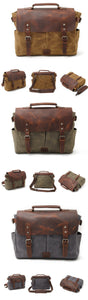 Riverton Canvas Messenger Bag | Laptop Bag | Satchel Bag - trendyful