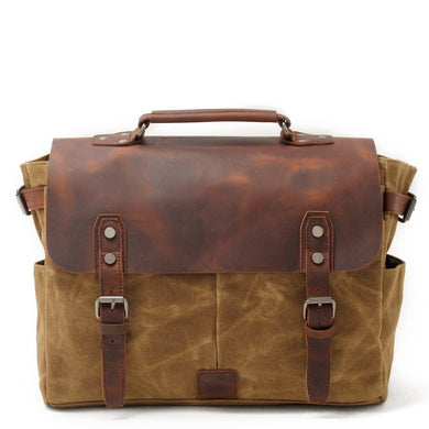 Riverton Canvas Messenger Bag | Laptop Bag | Satchel Bag, Canvas Messenger & Laptop Bag - trendyful
