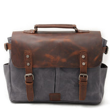Load image into Gallery viewer, Riverton Canvas Messenger Bag | Laptop Bag | Satchel Bag - trendyful