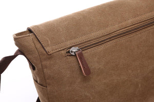 "Canvas Messenger Bag | Laptop Bag | Satchel Bag 14"", Messenger Canvas Laptop Bag Large - trendyful"