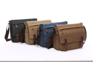 "Canvas Messenger Bag | Laptop Bag | Satchel Bag 13"", Messenger Canvas Laptop Bag Large - trendyful"