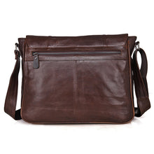 Load image into Gallery viewer, Genuine Leather Messenger Bag, Canvas Messenger Bag with genuine leather - trendyful