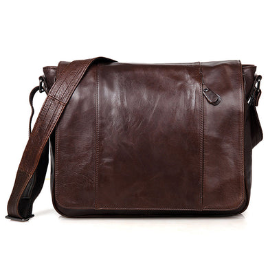 Lawrence Genuine Leather Messenger Bag - trendyful