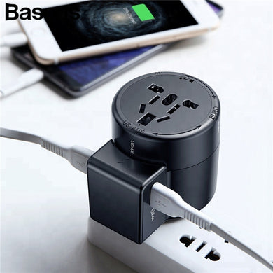 Baseus Universal Travel Adapter 2.4A and Multi Usb Cable Charger,  - trendyful