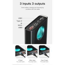 Load image into Gallery viewer, Baseus 20000mAh Power Bank Type C PD Quick Charge 3.0, Power Bank - trendyful