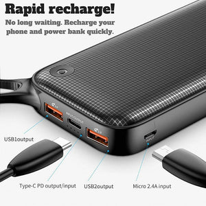 Premium 20000mah Power Bank | Fast Charging Ports, Power Banks - trendyful