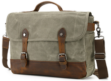 Load image into Gallery viewer, Canvas Messenger Bag | Laptop Bag | Satchel Bag, Canvas Messenger Laptop Bag - trendyful