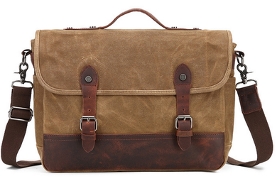 Lexington Canvas Messenger Bag | Laptop Bag | Satchel Bag - trendyful