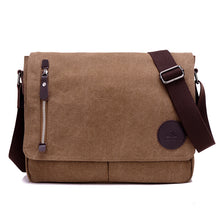 "Load image into Gallery viewer, Toledo Canvas Messenger Bag | Satchel Bag 13"", Canvas Messenger Bag - trendyful"