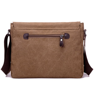 "Toledo Canvas Messenger Bag | Satchel Bag 13"", Canvas Messenger Bag - trendyful"
