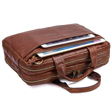 Load image into Gallery viewer, Norfolk Genuine Leather Messenger Bag - trendyful