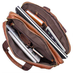 Norfolk Genuine Leather Messenger Bag, Leather Messenger Bag - trendyful