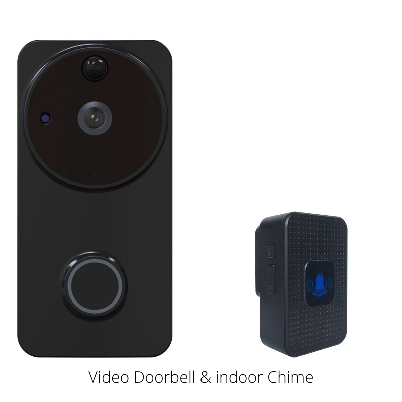 WiFi HD Video Doorbell + Indoor Chime, Video doorbell - trendyful