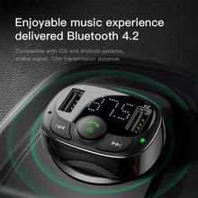 Load image into Gallery viewer, Handsfree Bluetooth FM Transmitter Car Charger, Bluetooth FM Transmitter - trendyful