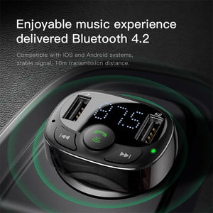 Handsfree Bluetooth FM Transmitter Car Charger, Bluetooth FM Transmitter - trendyful