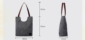 Women's Handbag Canvas Tote Shoulder Bag - trendyful