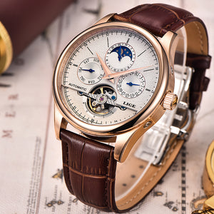 LIGE Waterproof Men's Business Mechanical Watch, Watch - trendyful