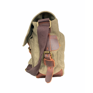 Tyrone Canvas & Leather Messenger Bag | Shoulder Bag, Canvas Messenger Bag - trendyful