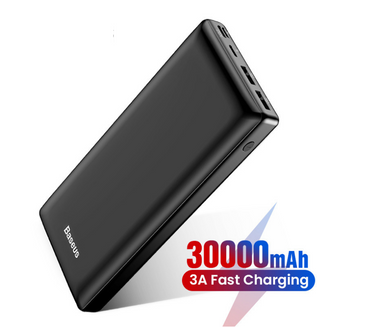 Premium 30000mAh Ultra Slim Power Bank, Power Banks - trendyful