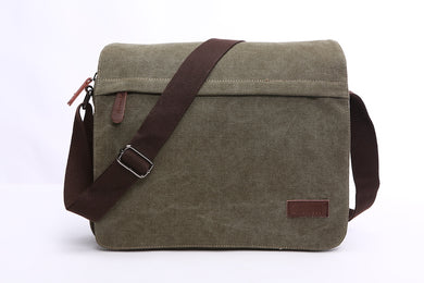 Urban Canvas Messenger Laptop Bag - trendyful