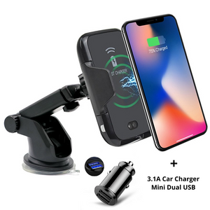 Premium Wireless Phone Charger & Holder With Sensor, Wireless Car Charger - trendyful