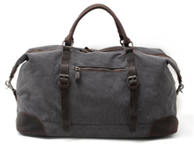 Load image into Gallery viewer, Leeston Canvas Leather Duffle Bag - trendyful