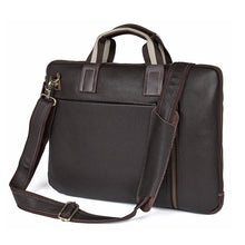 Load image into Gallery viewer, Memphis Genuine Leather Satchel, Leather Messenger Bag - trendyful