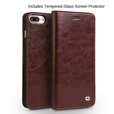 Genuine Leather Wallet iPhone Case, Phone Case - trendyful