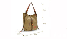 Load image into Gallery viewer, Women's Handbag Canvas Tote Shoulder Bag & Backpack, Women Tote Bag - trendyful
