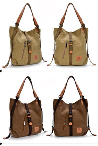 Women's Handbag Canvas Tote Shoulder Bag & Backpack, Women Tote Bag - trendyful