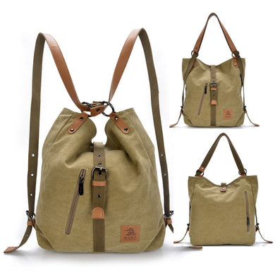 Women's Handbag Canvas Tote Shoulder Bag & Backpack - trendyful