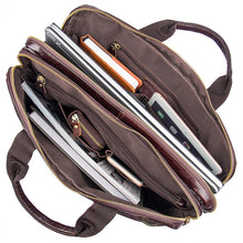 Load image into Gallery viewer, Genuine Leather Messenger Bag, Leather Messenger Bag - trendyful