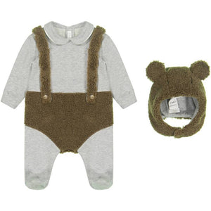 Infant Onesie and Bonnet Set with Blanket