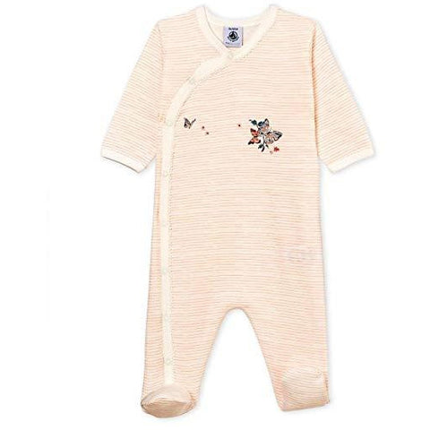 Petit Bateau Baby Girls' Pajamas with Printed Butterfly 1m - a1bebe