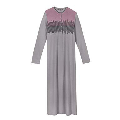 VELVETTE Womens' Pima Cotton & Modal Nightgown - Plus Size - a1bebe