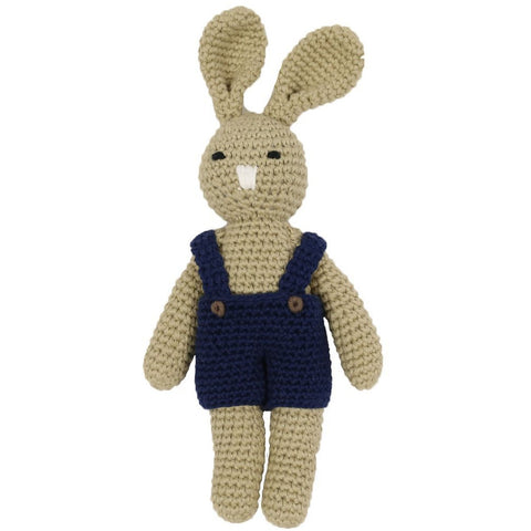 Hand knitted Bunny Rattle Toy - Baby Gifts