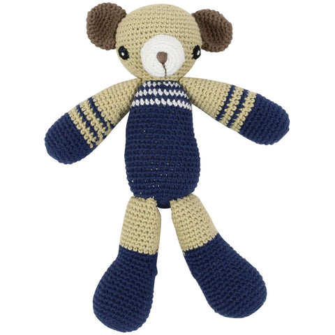 Hand Knitted Bear Rattle Toy - Baby Gifts