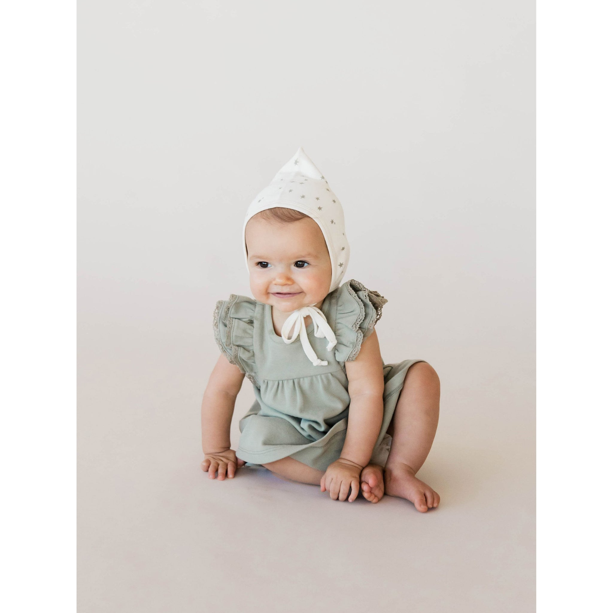 Quincy Mae Pixie Bonnet + Bibs Pacifier
