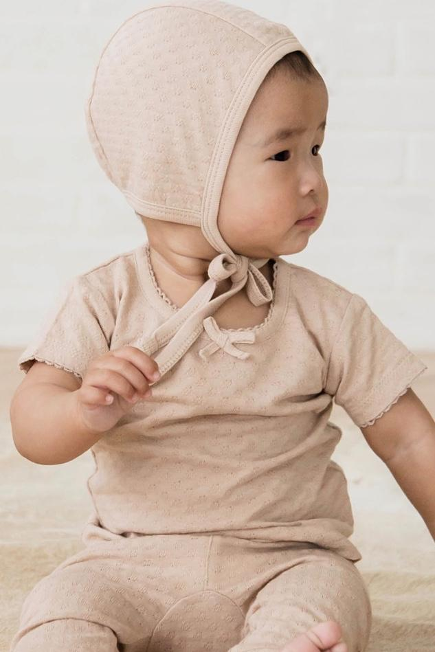 f0700e1e9 QUINCY MAE POINTELLE BABY BONNET | COPPER – a1bebe