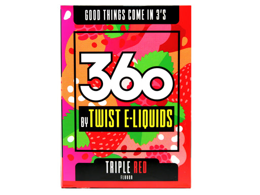 360 by Twist Eliquids - 60ml - X3 Triple Red