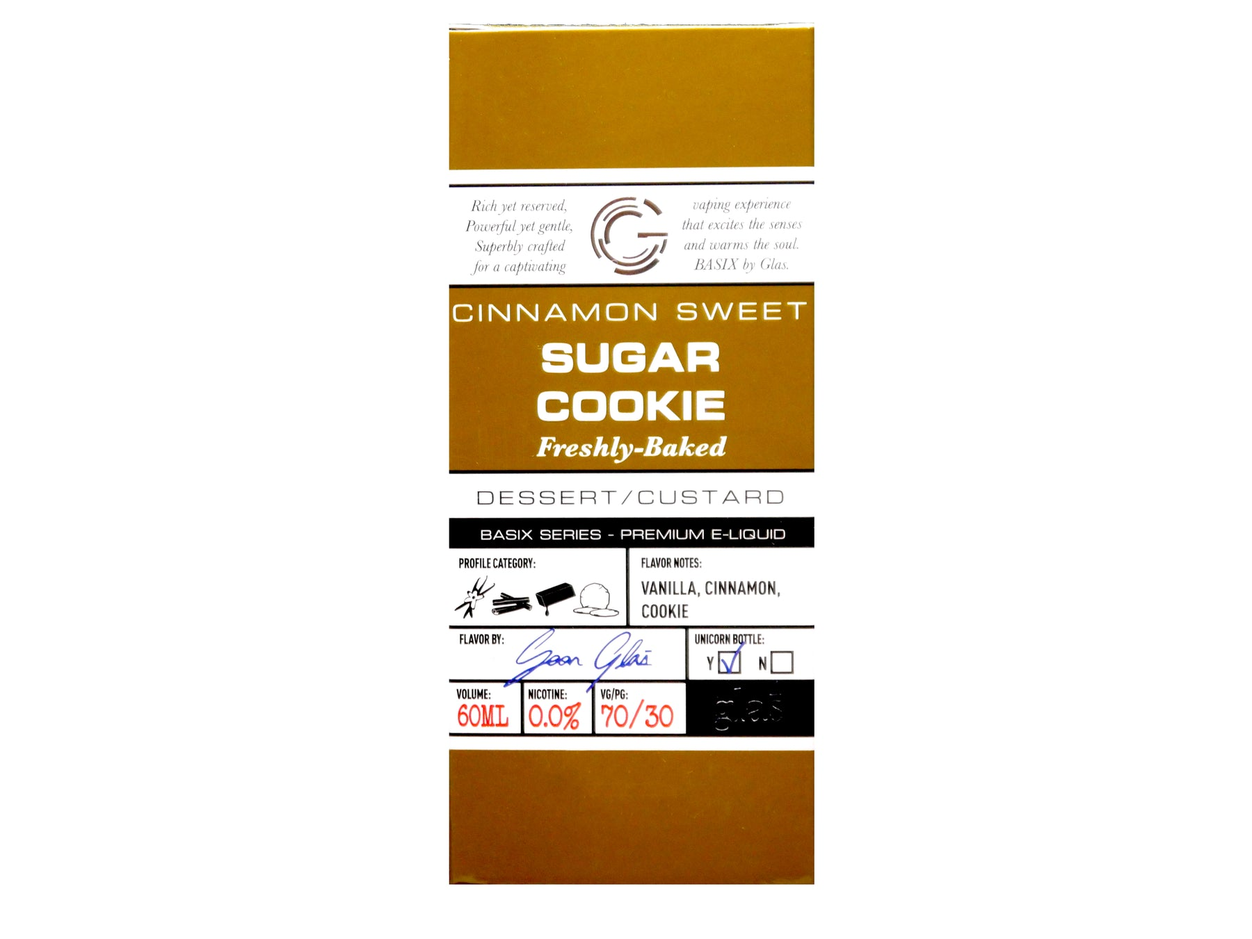 Glas Basix Series - 60ml - Sugar Cookie